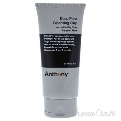 Deep Pore Cleansing Clay by Anthony for Men - 3 oz Cleanser