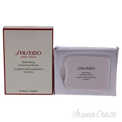 Refreshing Cleansing Sheet by Shiseido for Unisex - 30 Pc Wi