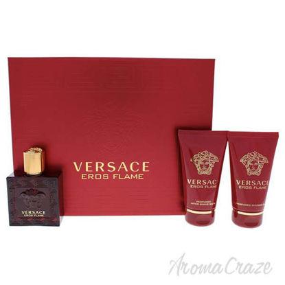 Eros Flame by Versace for Men - 3 Pc Gift Set 1.7oz EDP Spra