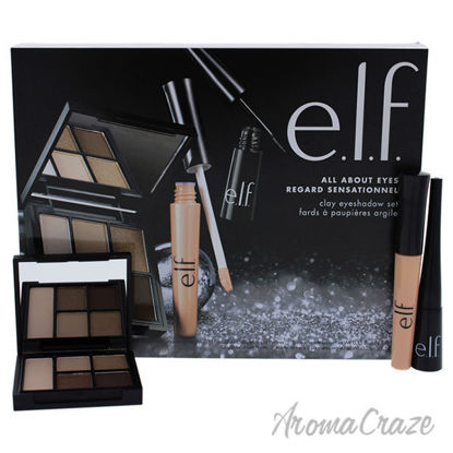 All About Eyes Set by e.l.f. for Women - 3 Pc Clay Eyeshadow
