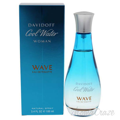 Cool Water Wave by Zino Davidoff for Women - 3.4 oz EDT Spra