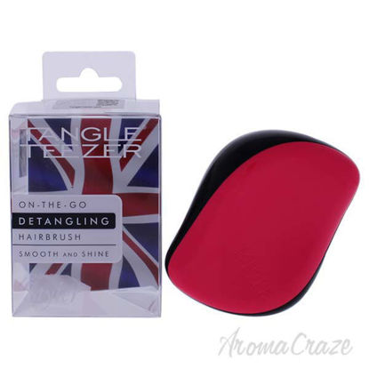 Compact Styler Detangling Hairbrush - Black-Pink by Tangle T