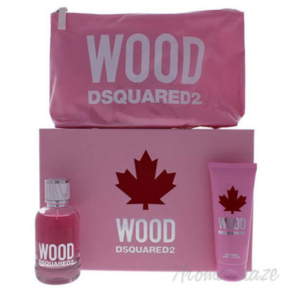 Wood by Dsquared2 for Women - 3 Pc Gift Set 3.4oz EDT Spray,