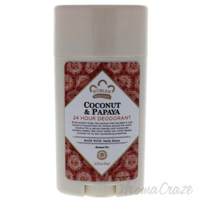 Coconut and Papaya 24 Hour Deodorant by Nubian Heritage for