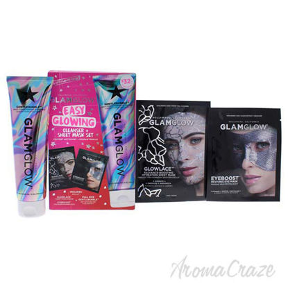 Easy Glowing Cleanser Plus Sheet Mask Set by Glamglow for Wo