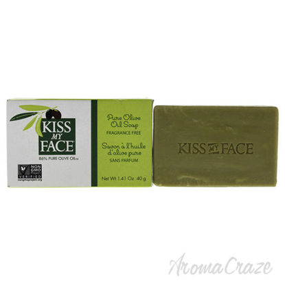 Pure Olive Oil Bar Soap by Kiss My Face for Unisex - 1.41 oz