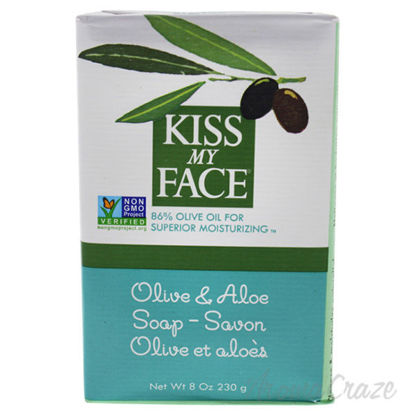 Olive and Aloe Bar Soap by Kiss My Face for Unisex - 8 oz So