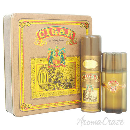 Cigar by Remy Latour for Men - 2 Pc Gift Set 3.3oz EDT Spray