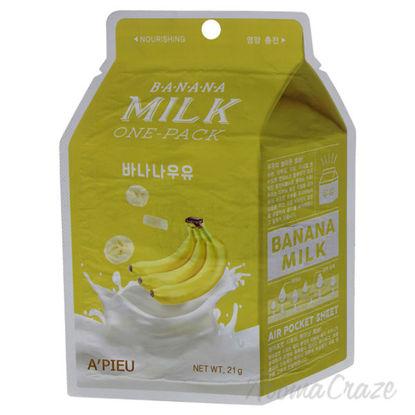 Banana Milk Sheet Mask by Apieu for Unisex - 1 Pc Mask