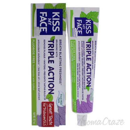 Triple Action Fluoride-Free Toothpaste - Fresh Mint by Kiss