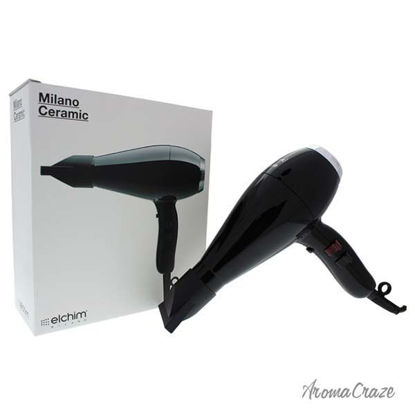 Milano Ceramic Hair Dryer - Black/Silver by Elchim for Unise