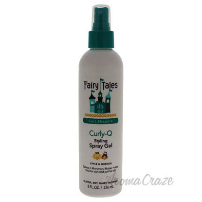 Curly-Q Styling Spray Gel by Fairy Tales for Kids - 8 oz Spr