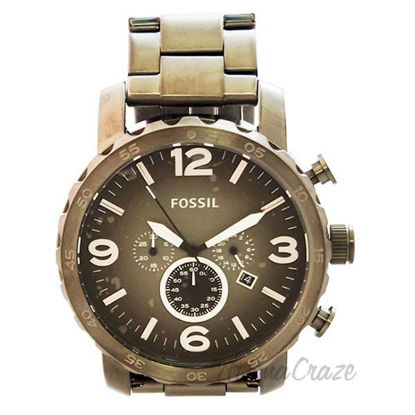 JR1437P Nate Chronograph Smoke Stainless Steel Watch by Foss