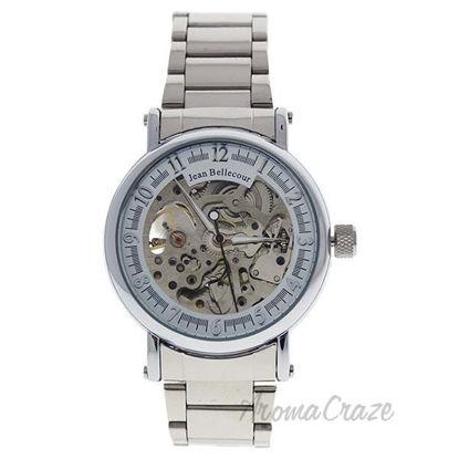 REDH1 Silver Stainless Steel Bracelet Watch by Jean Bellecou