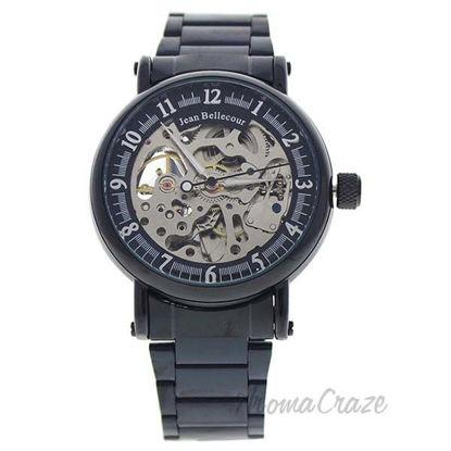 REDH3 Black Stainless Steel Bracelet Watch by Jean Bellecour