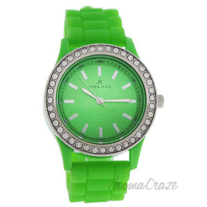 2032L-GN Green Silicone Strap Watch by Kim and Jade for Wome