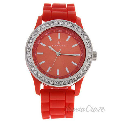 2032L-R Orange Silicone Strap Watch by Kim and Jade for Wome