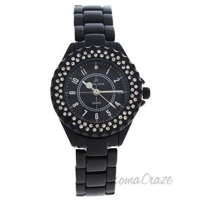2033L-BB Black Stainless Steel Bracelet Watch by Kim and Jad