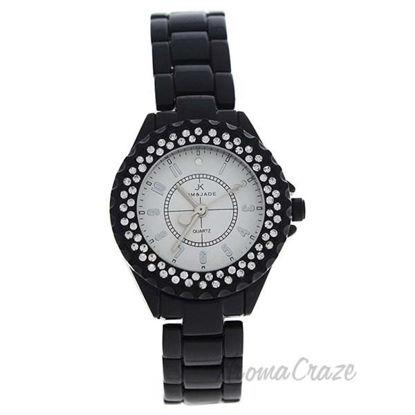 2033L-BS Black Stainless Steel Bracelet Watch by Kim and Jad