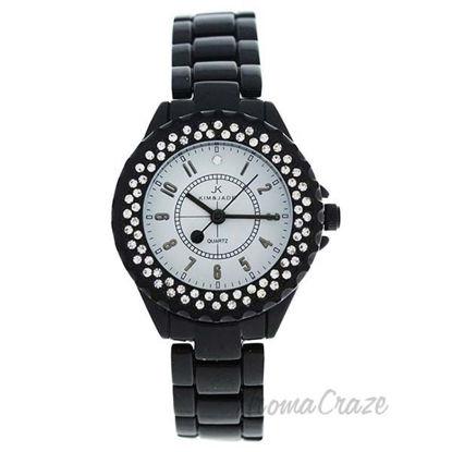 2033L-BW Black Stainless Steel Bracelet Watch by Kim and Jad