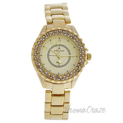 2033L-GG Gold Stainless Steel Bracelet Watch by Kim and Jade