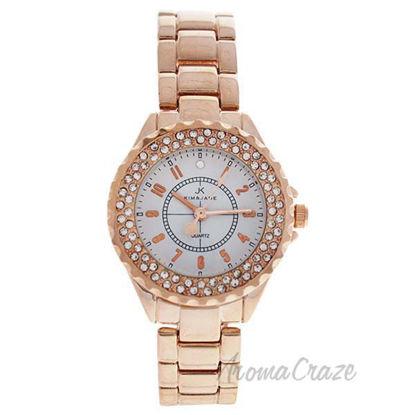 2033L-GPW Rose Gold Stainless Steel Bracelet Watch by Kim an
