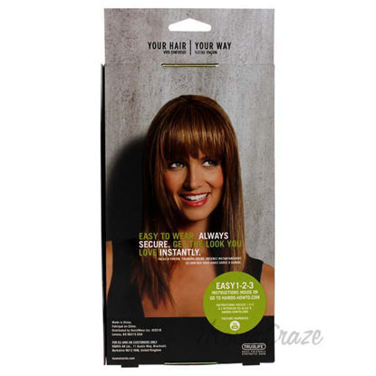 Modern Fringe Clip In Bang - R830 Ginger Brown by Hairdo for