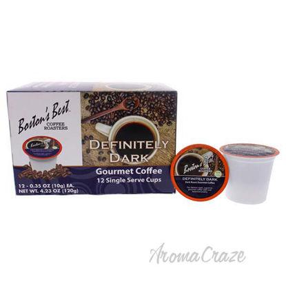 Definitely Dark Gourmet Coffee by Bostons Best - 12 Cups Cof