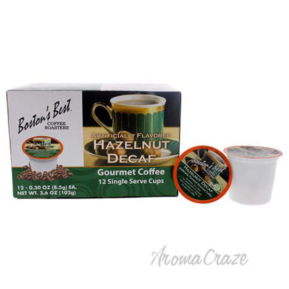 Hazelnut Decaf Gourmet Coffee by Bostons Best - 12 Cups Coff