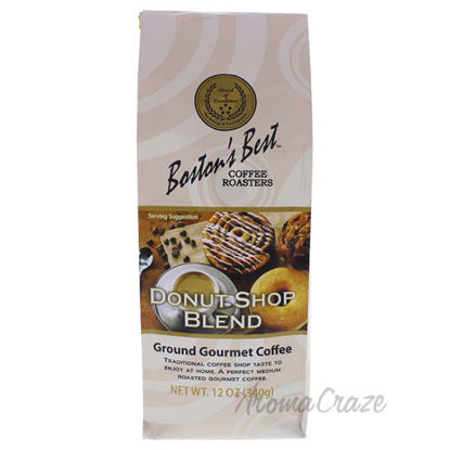 Donut Shop Blend Ground Gourmet Coffee by Bostons Best - 12
