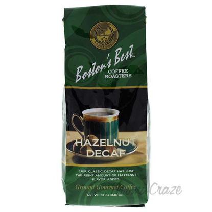 Hazelnut Decaf Ground Gourmet Coffee by Bostons Best - 12 oz