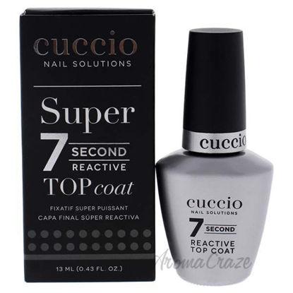 Super 7 Second Reactive Top Coat by Cuccio for Women - 0.43