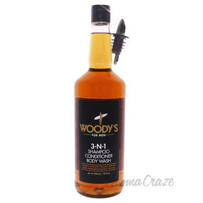 3-In-1 Shampoo Conditioner and Body Wash by Woodys for Men -