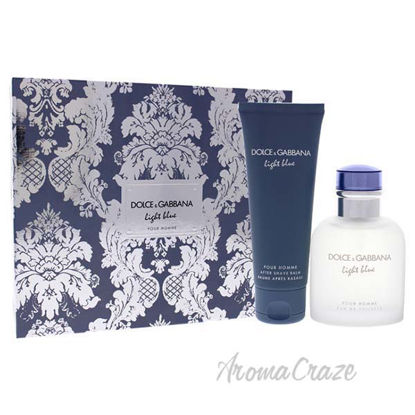Light Blue by Dolce and Gabbana for Men - 2 Pc Gift Set 2.5o