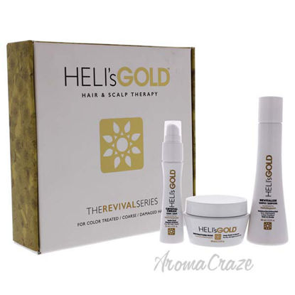 The Revival Series Travel Kit by Helis Gold for Unisex - 3 P