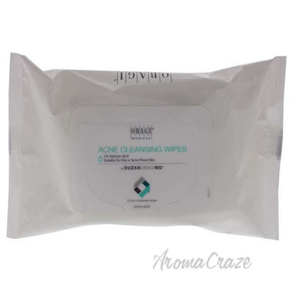 On the Go Acne Cleansing Wipes by Obagi for Unisex - 25 Pc W