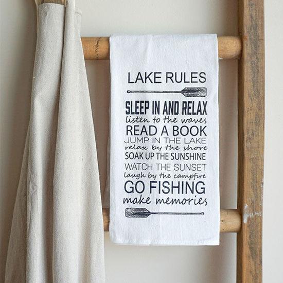 Lake Rules | Cotton Tea Towel