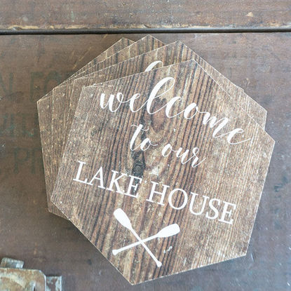 Welcome to our Lake House | Coaster Set