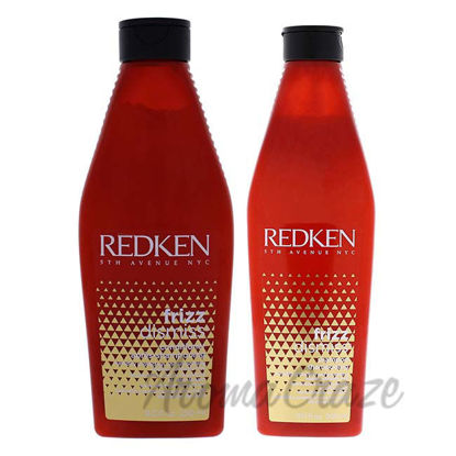 Frizz Dismiss Shampoo and Conditioner Kit by Redken for Unis