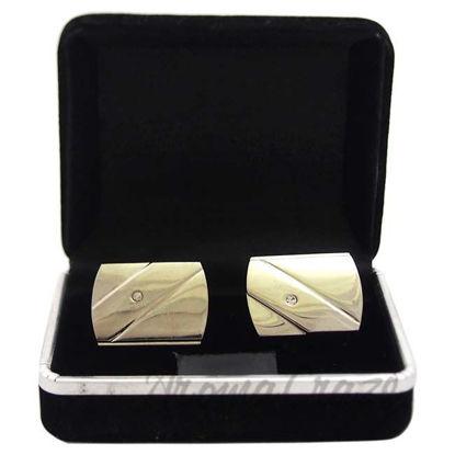 Picture of B14 Cufflinks by Polanni for Men - W 2.5 x L 1.7 CM Cufflinks