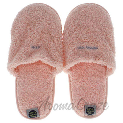 Picture of The Towel Slippers Pink - Medium by Cool Enough Studio for Unisex - 1 Pair Slippers