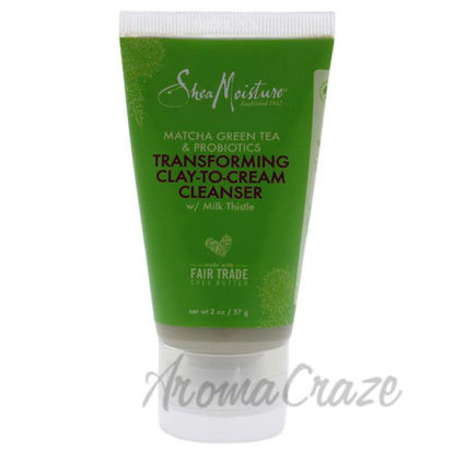 Picture of Matcha Green Tea and Probiotics Transforming Clay-To-Cream Cleanser by Shea Moisture for Unisex - 2 oz