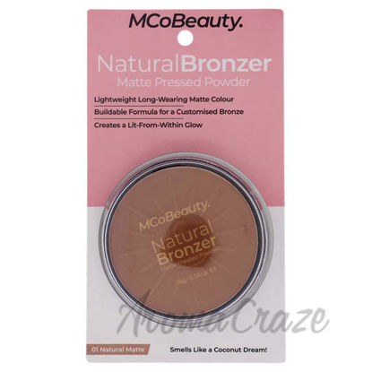 Picture of Natural Bronzer Matte Pressed Powder - 01 Natural Matte by MCoBeauty for Women - 0.56 oz