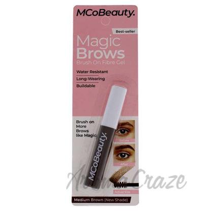 Picture of Magic Brows Brush On Fiber Gel Waterproof - Medium Brown by MCoBeauty for Women - 0.12 oz