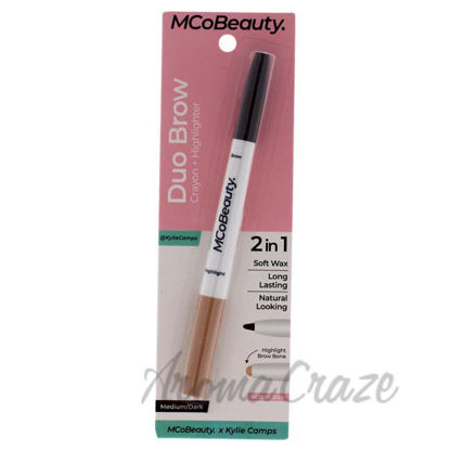 Picture of Duo Brow Crayon Plus Highlighter - Medium-Dark by MCoBeauty for Women - 0.02 oz