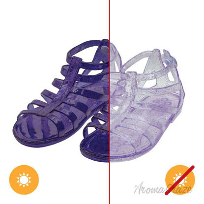 Picture of Gladiator Girl Jellies Sandal - 11 Purple by DelSol for Kids