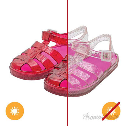 Picture of Gladiator Girl Jellies Sandal - 4 Pink by DelSol for Kids