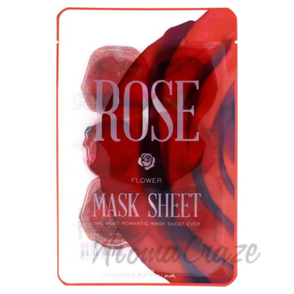 Picture of Slice Sheet Mask - Rose Flower by Kocostar for Unisex - 1 Pc