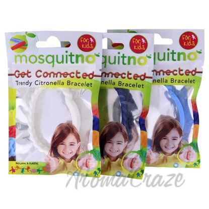 Picture of Get Connected Citronella Bracelet Set by Mosquitno for Kids - 3 Pc Bracelet Light Blue, Blue, White