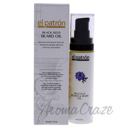 Picture of Black Seed Beard Oil by El Patron for Men - 1 oz